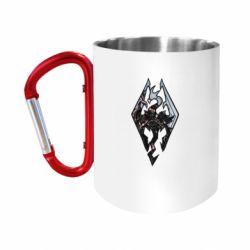 """Кружка с ручкой """"карабин"""" Skyrim Logo"""