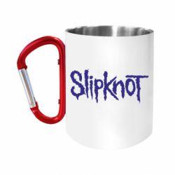 Кружка з ручкою-карабіном Slipknot