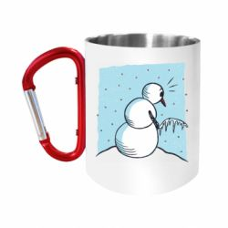 Кружка з ручкою-карабіном Snowman. It's Cold!