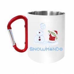 """Кружка с ручкой """"карабин"""" Snowmando"""