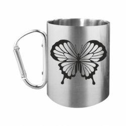 "Кружка с ручкой ""карабин"" Soft butterfly"
