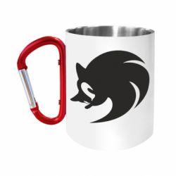 """Кружка с ручкой """"карабин"""" Sonic logo"""