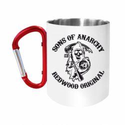Кружка з ручкою-карабіном Sons of Anarchy