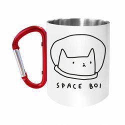 Кружка з ручкою-карабіном Space boi