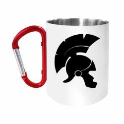 """Кружка с ручкой """"карабин"""" Spartan helmet"""