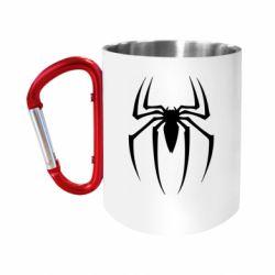 """Кружка с ручкой """"карабин"""" Spider Man Logo"""