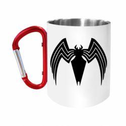 Кружка з ручкою-карабіном Spider venom