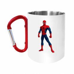 Кружка з ручкою-карабіном Spiderman in costume