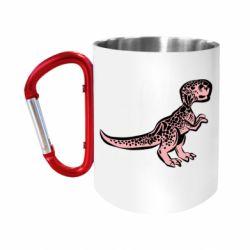 Кружка з ручкою-карабіном Spotted baby dinosaur