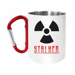 Кружка з ручкою-карабіном Stalker