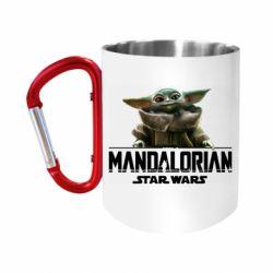 """Кружка с ручкой """"карабин"""" Star Wars Yoda beby"""