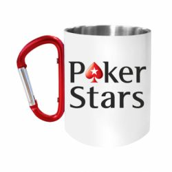 Кружка з ручкою-карабіном Stars of Poker