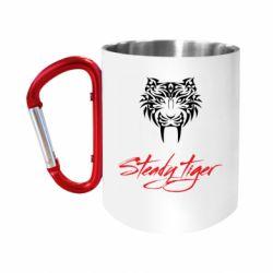 Кружка з ручкою-карабіном Steady tiger