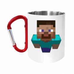 "Кружка с ручкой ""карабин"" Steve from Minecraft"