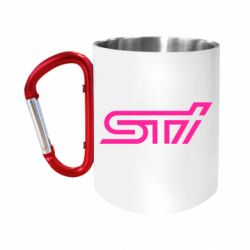 """Кружка с ручкой """"карабин"""" STI Logo"""