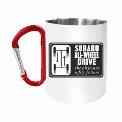 Кружка з ручкою-карабіном Subaru All-Wheel