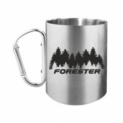"""Кружка с ручкой """"карабин"""" Subaru Forester"""