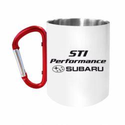 """Кружка с ручкой """"карабин"""" Subaru STI"""
