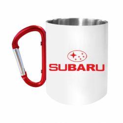 """Кружка с ручкой """"карабин"""" Subaru"""