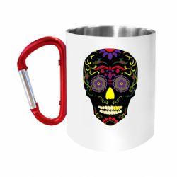 Кружка з ручкою-карабіном Sugar Skull Vector