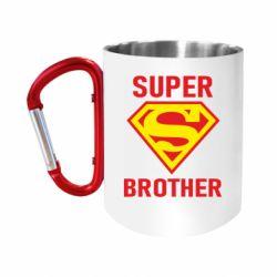 """Кружка с ручкой """"карабин"""" Super Brother"""