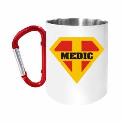 Кружка з ручкою-карабіном Super Medic