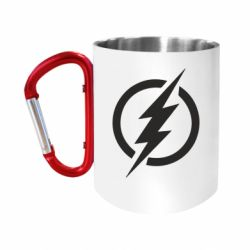 Кружка з ручкою-карабіном Superhero logo