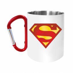 """Кружка с ручкой """"карабин"""" Superman Classic"""