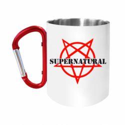 """Кружка с ручкой """"карабин"""" Supernatural"""