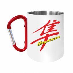 """Кружка с ручкой """"карабин"""" Suzuki Hayabusa"""