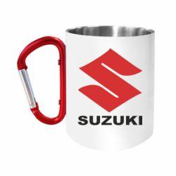 """Кружка с ручкой """"карабин"""" Suzuki"""