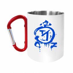 """Кружка с ручкой """"карабин"""" Сверхъестественное логотип"""