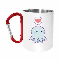 """Кружка с ручкой """"карабин"""" Sweet Octopus"""
