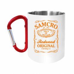 Кружка з ручкою-карабіном Сини Анархії Samcro