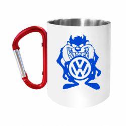 """Кружка с ручкой """"карабин"""" Тасманский дьявол Volkswagen"""