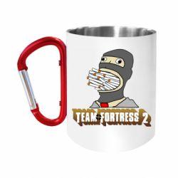 """Кружка с ручкой """"карабин"""" Team Fortress 2 Art"""