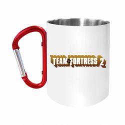 "Кружка с ручкой ""карабин"" Team Fortress 2 logo"