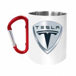 Кружка з ручкою-карабіном Tesla Corp