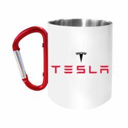 """Кружка с ручкой """"карабин"""" Tesla"""