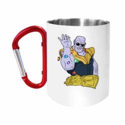 Кружка з ручкою-карабіном Thanos Art