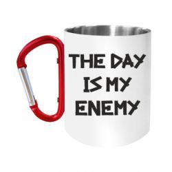 """Кружка с ручкой """"карабин"""" The day is my enemy"""