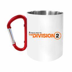 Кружка з ручкою-карабіном The division 2 logo