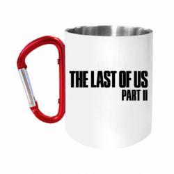"Кружка с ручкой ""карабин"" The last of us part 2 logo"