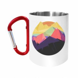 "Кружка с ручкой ""карабин"" The mountains Art"