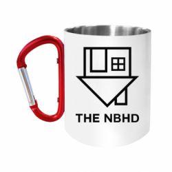 """Кружка с ручкой """"карабин"""" THE NBHD Logo"""