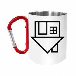 """Кружка с ручкой """"карабин"""" The Neighbourhood Logotype"""
