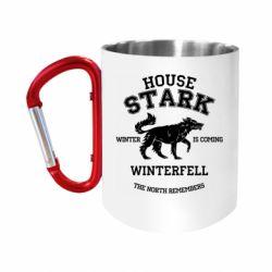 "Кружка с ручкой ""карабин"" The North Remembers - House Stark"