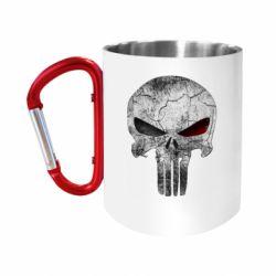 """Кружка с ручкой """"карабин"""" The Punisher Logo"""