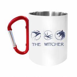 "Кружка с ручкой ""карабин"" The witcher pendants"