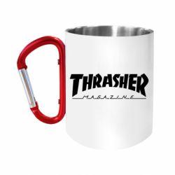 Кружка з ручкою-карабіном Thrasher Magazine